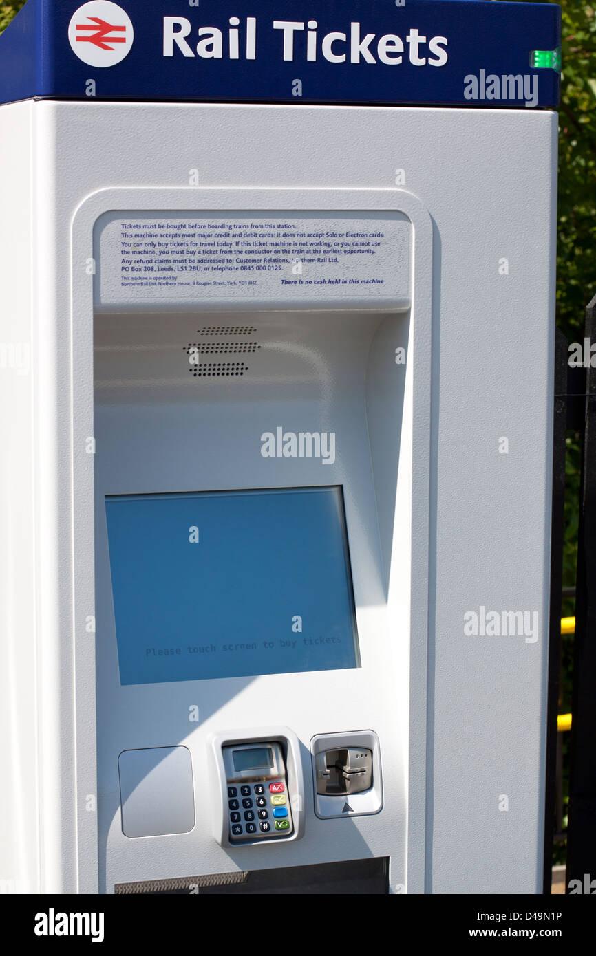 Rail ticket machine - Stock Image