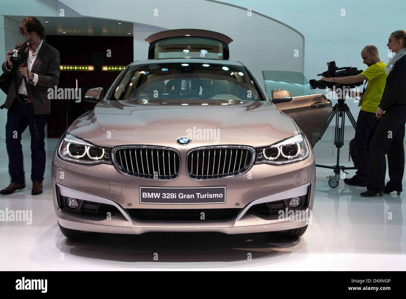 BMW 328i Gran Turismo. Geneva Motor Sow 2013 - Stock Image