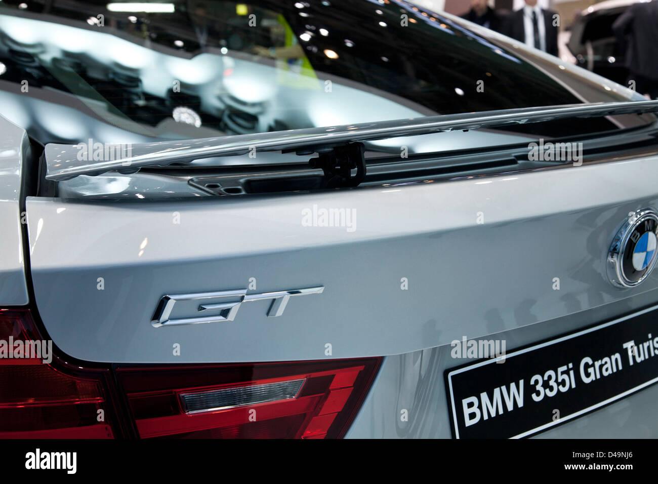 BMW 335i Gran Turismo. Geneva Motor Show 2013 - Stock Image