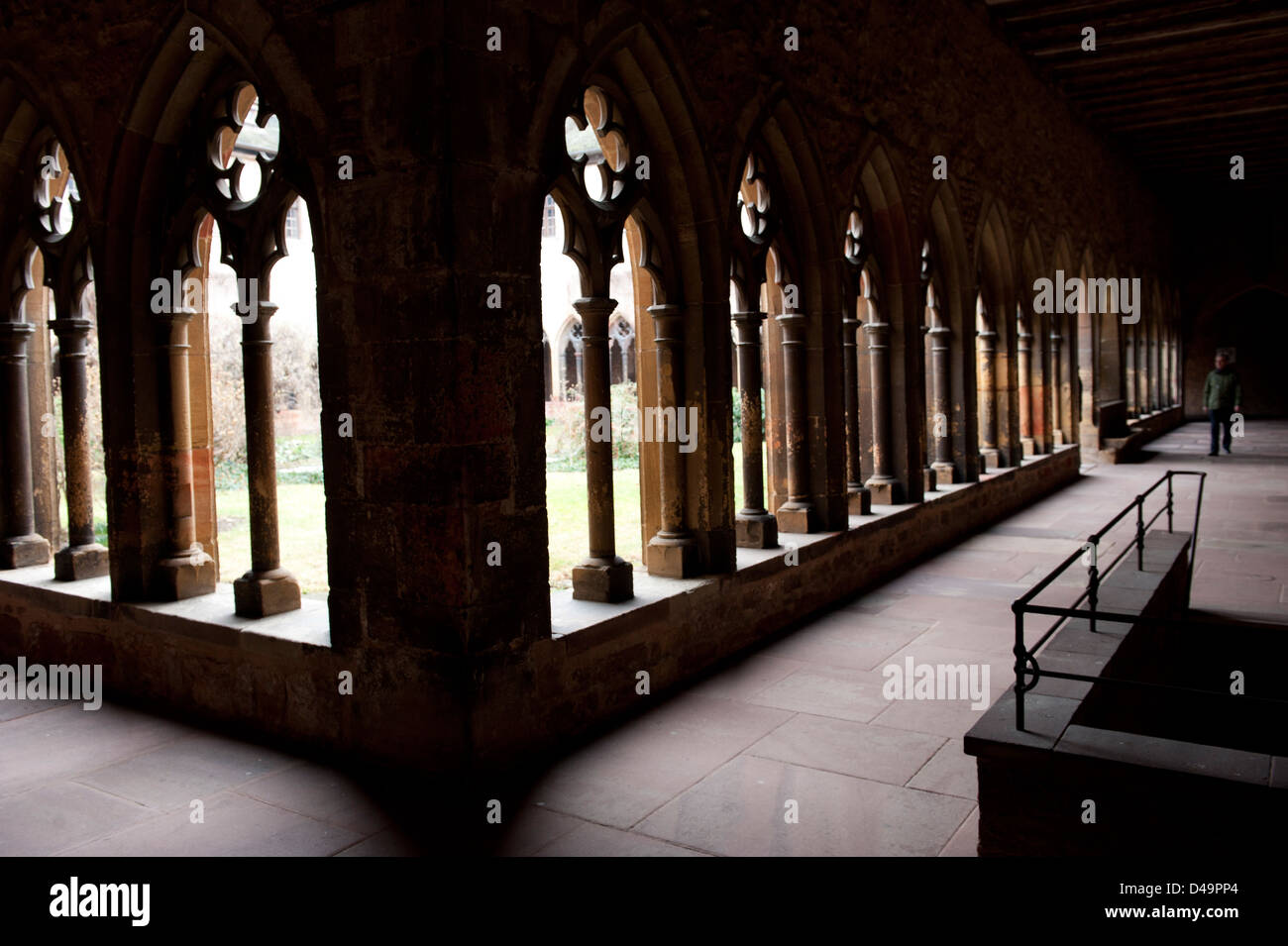 Colmar, France, the cloister of the Musee d'Unterlinden Stock Photo