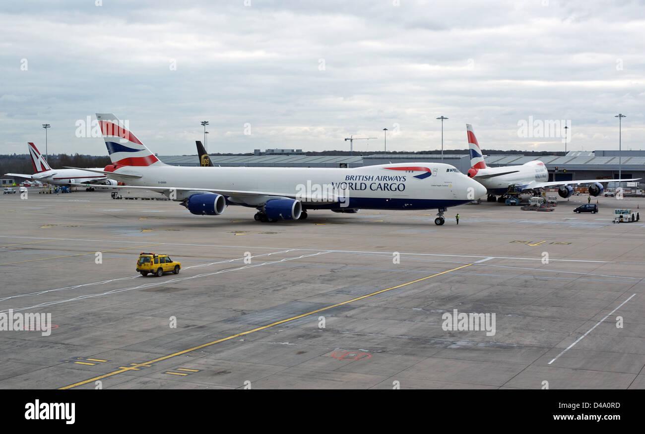 British Airways World Cargo Boeing 747 - Stock Image