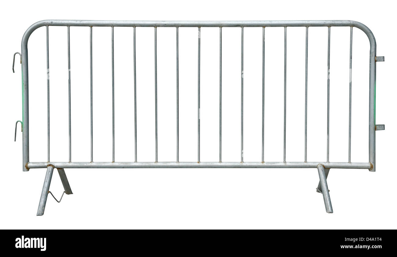 Metal crowd control barrier - Stock Image