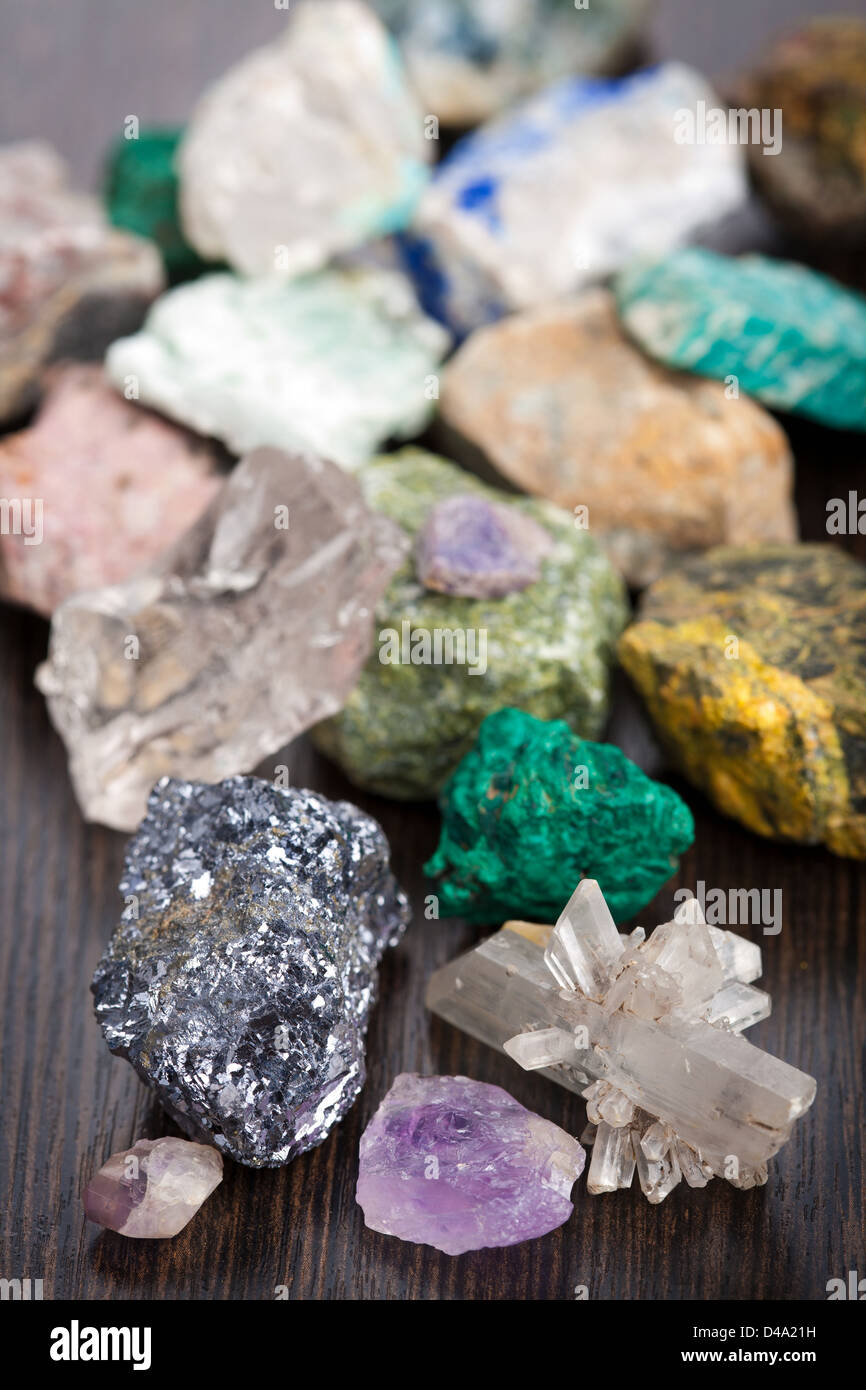 various minerals - Stock Image
