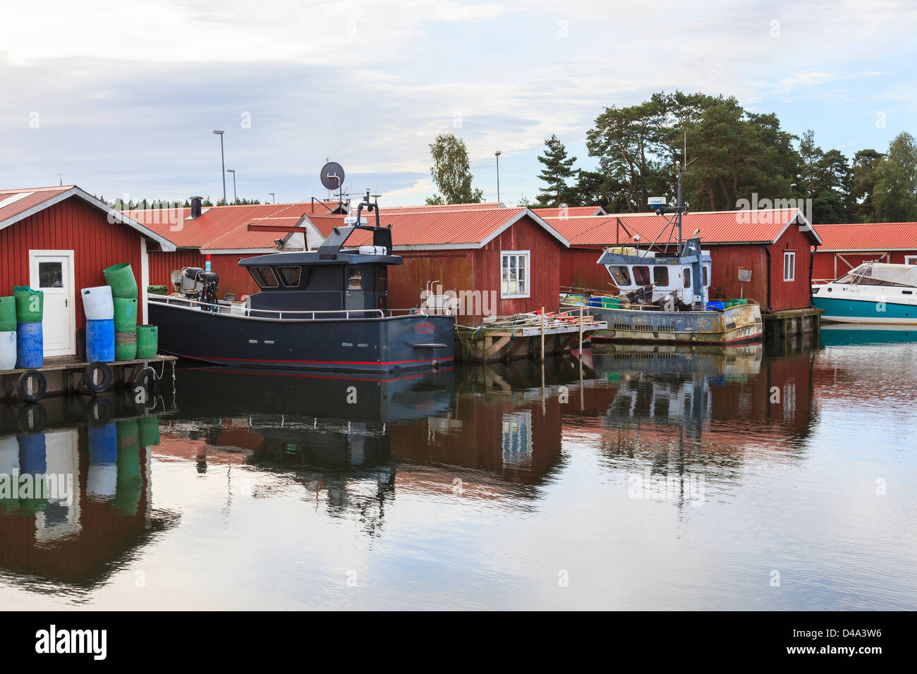 Fishing boat at harbour - Stock Image