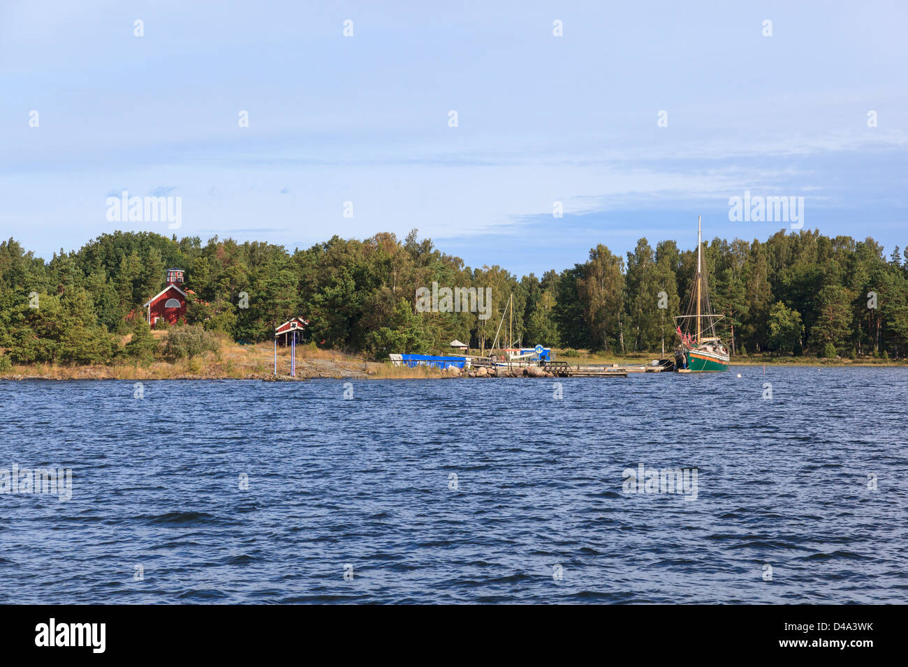 The harbor of Luro in Vanern - Stock Image