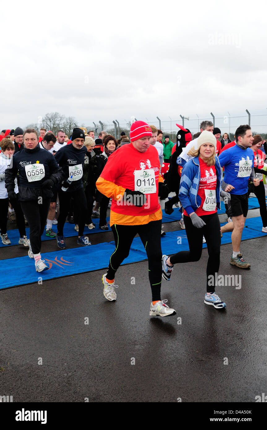Donington Park, Derbyshire, UK. 10th March 2013.A new sporting event to celebrate the lifes of Brian Clough and - Stock Image