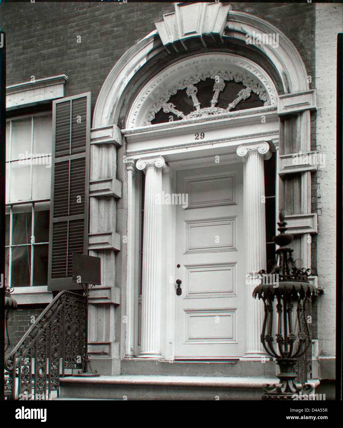 Doorway: Tredwell House, 29 East 4th Street, Manhattan. - Stock Image