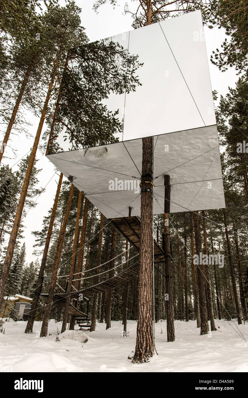 The Mirrorcube Treehotel Harads Lapland Sweden Scandinavia