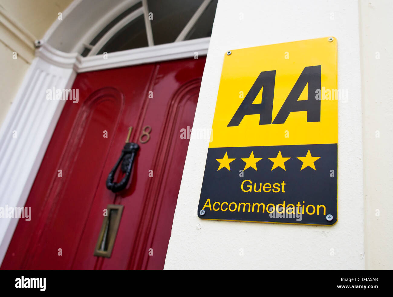 AA 4 Four Star Guest House in Canterbury Kent England UK - Stock Image