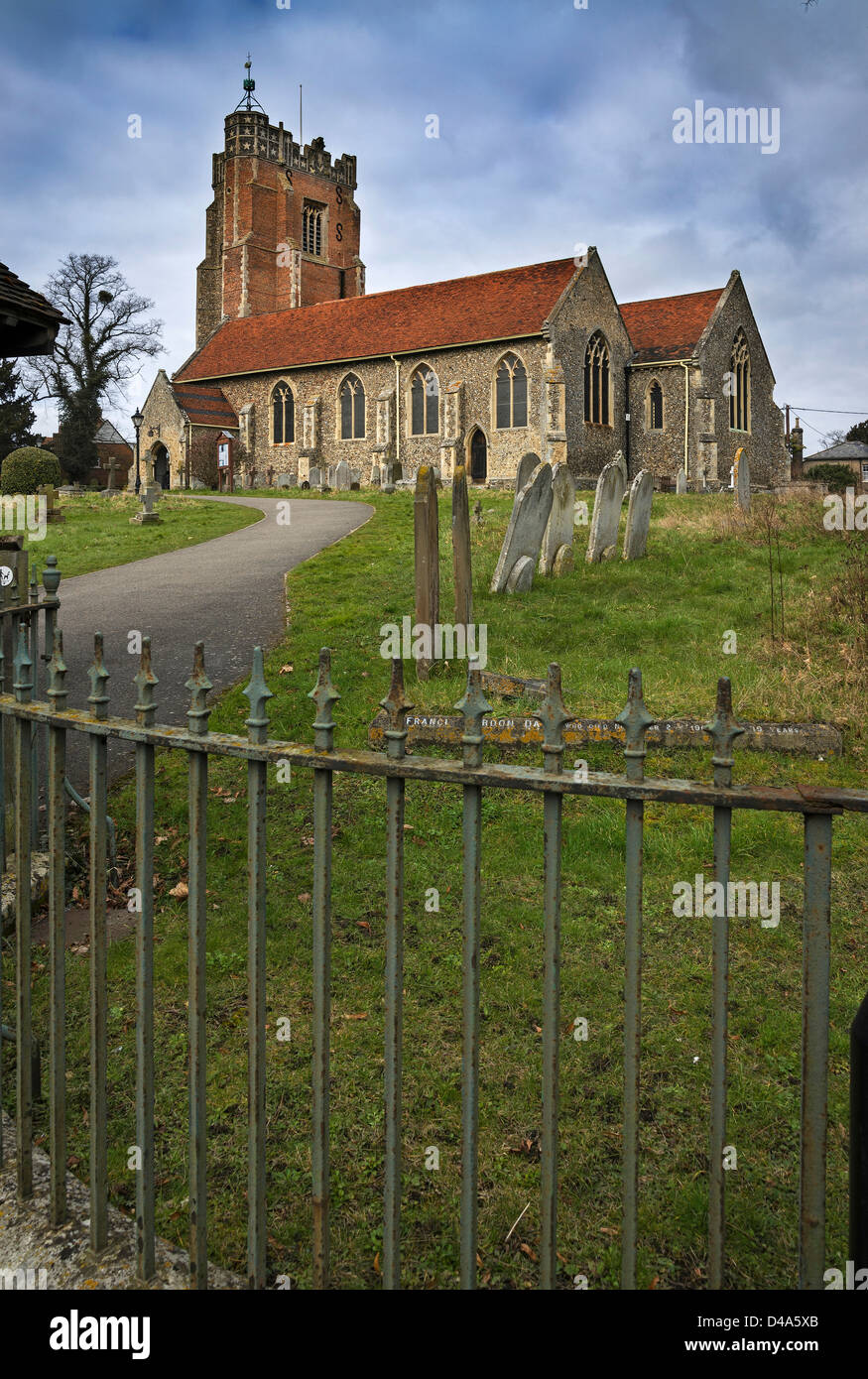 St Andrew Church Earls Colne - Stock Image