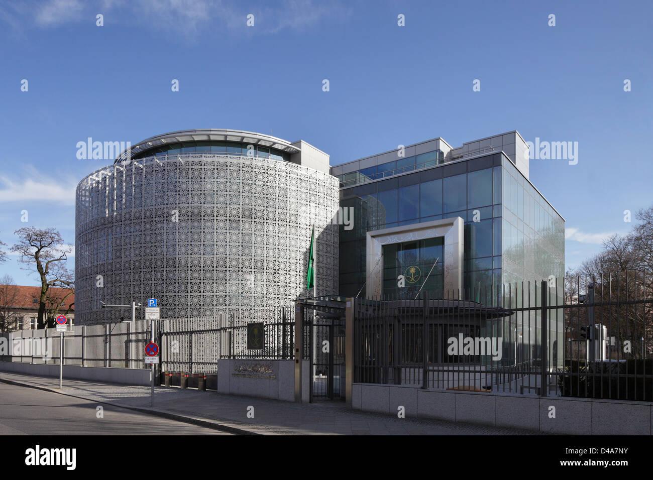 Berlin, Germany, Embassy of Saudi Arabia - Stock Image