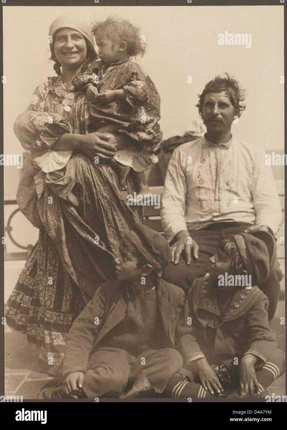 [Gypsy family.] - Stock Image