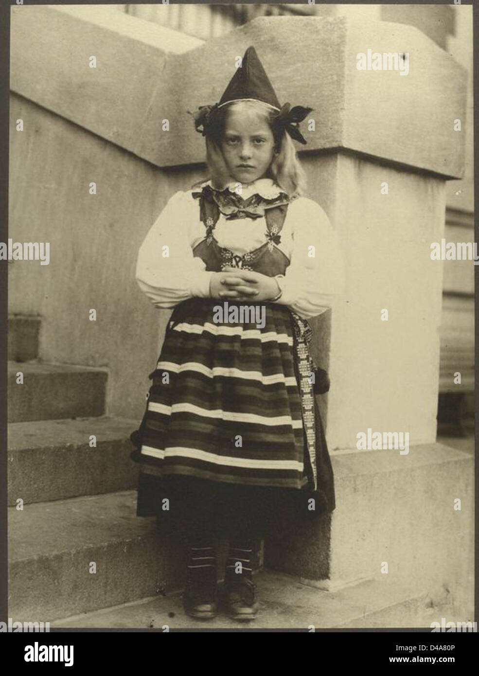 Girl from Rattvik, province of Dalarna, Sweden. - Stock Image