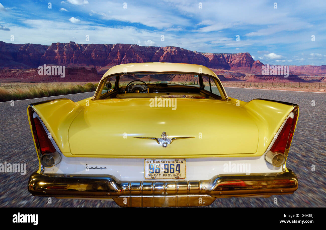 Vermilion Chevrolet >> Classic Car Fins Stock Photos & Classic Car Fins Stock Images - Alamy