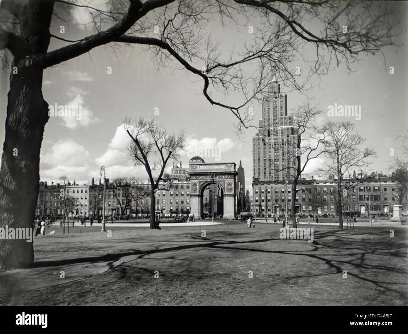 Washington Square looking north, Manhattan. - Stock Image