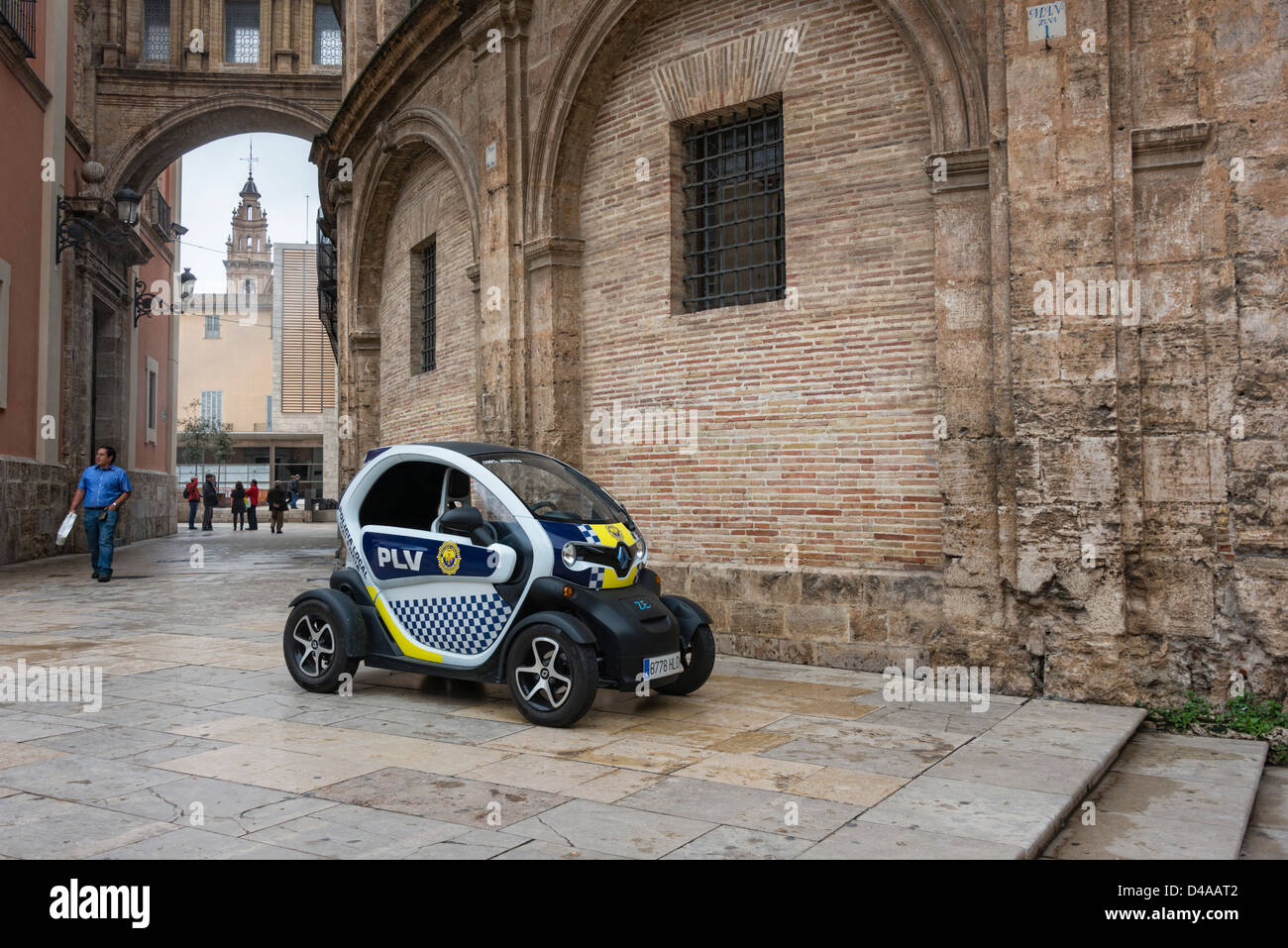 Renault Twizy Electric Police Car Stock Photo