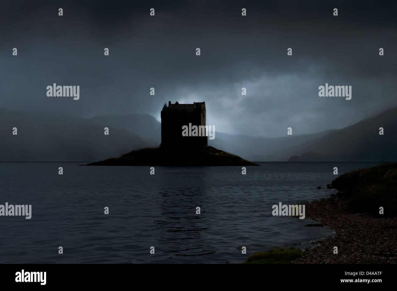 Stalker Castle Scotland - Stock Image