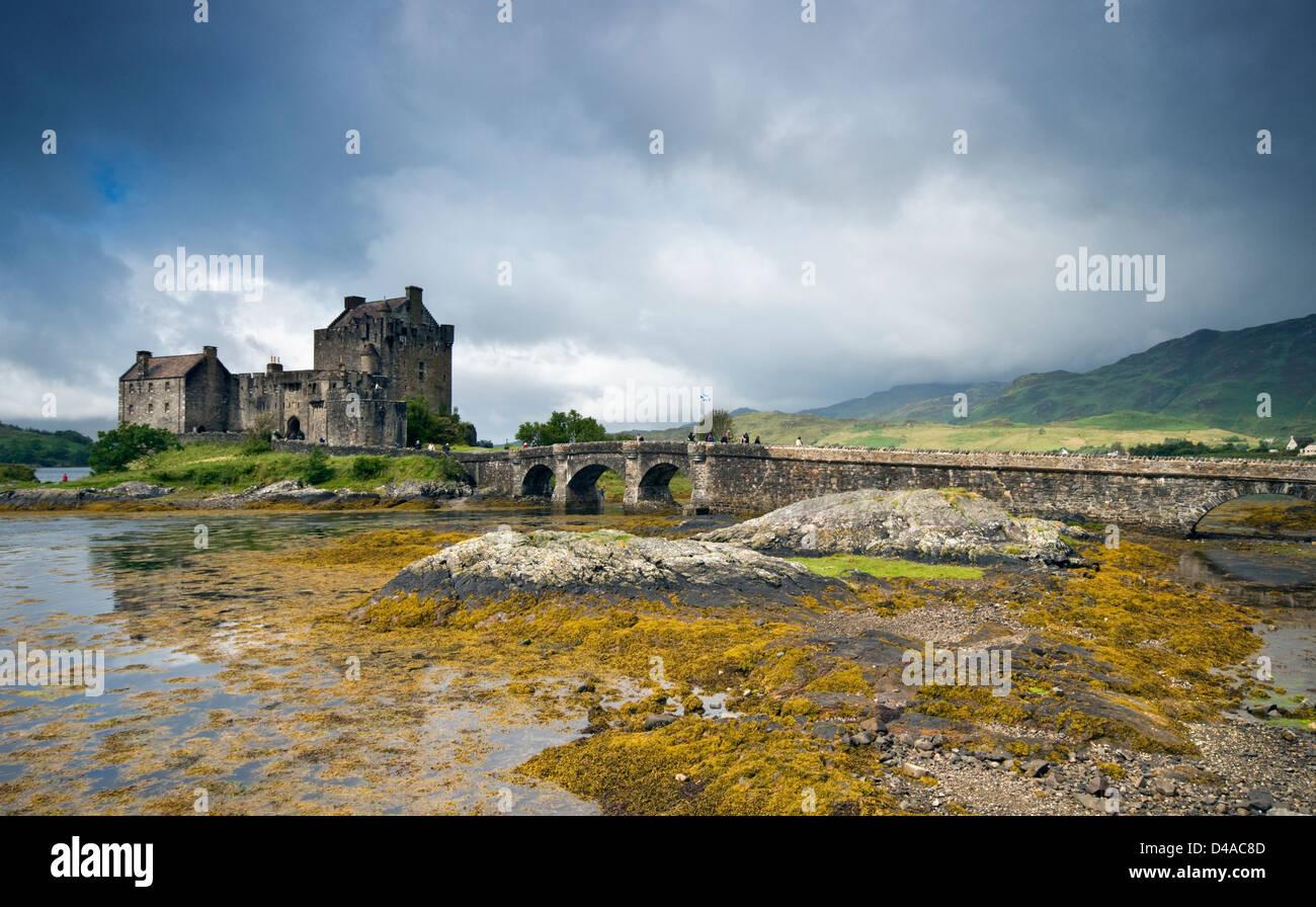 Eilean Donan Castle in Scotland, UK - Stock Image
