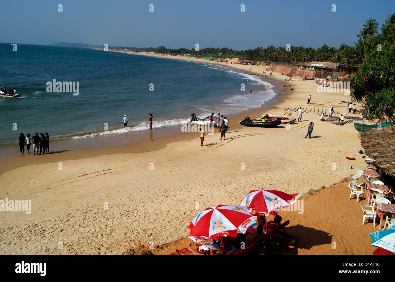 Goa Beaches India Wide Angle View High Resolution Stock Photography And Images Alamy