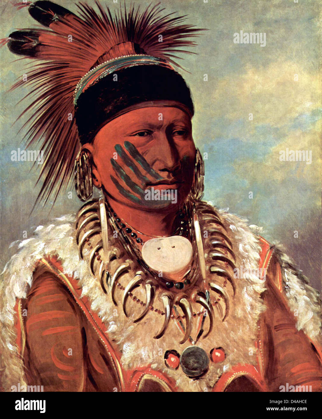 The White Cloud, Head Chief of the Iowas, by George Catlin - Stock Image