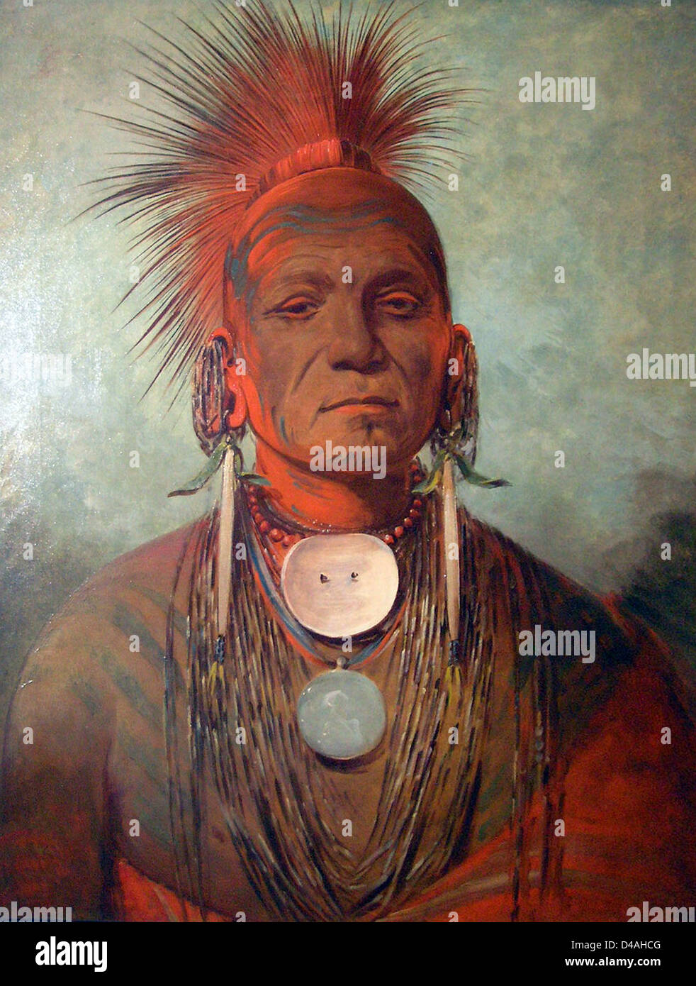 See-non-ty-a, an Iowa Medicine Man by George Catlin (1796–1872) - Stock Image