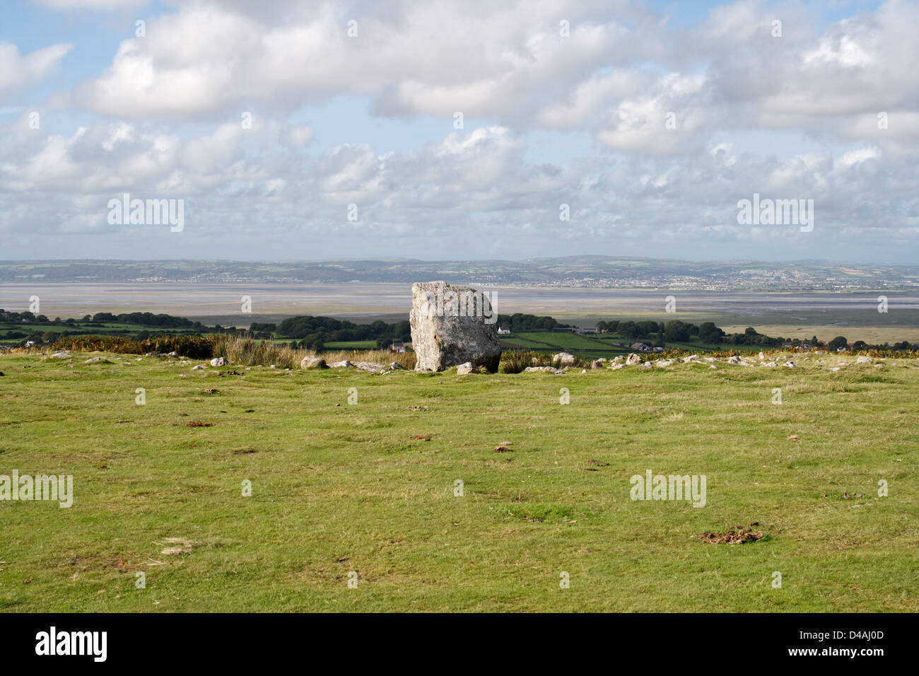 Arthurs Stone Burial chamber near Reynoldston on the Gower peninsula in Wales - Stock Image
