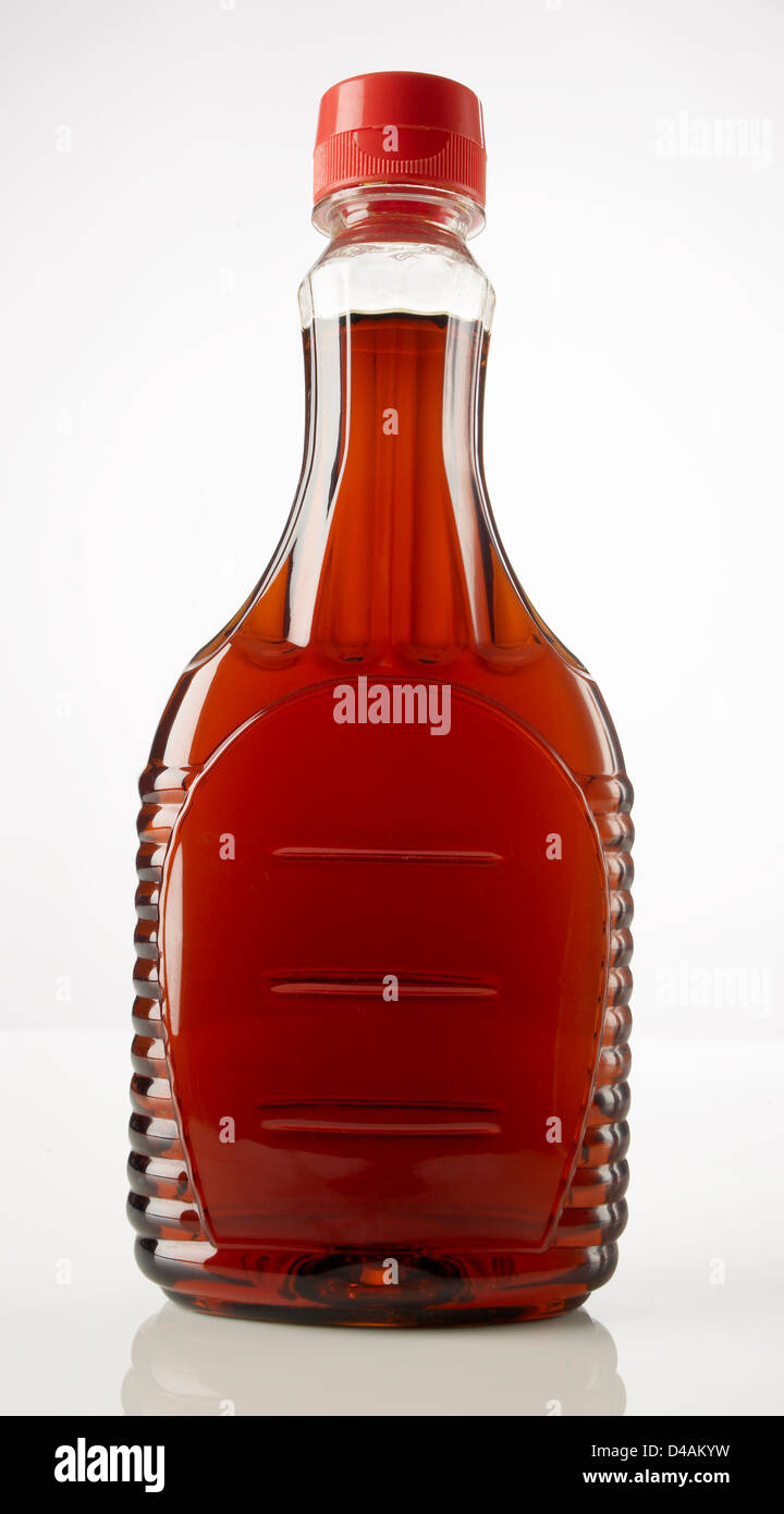 Plastic Bottle of Syrup - Stock Image