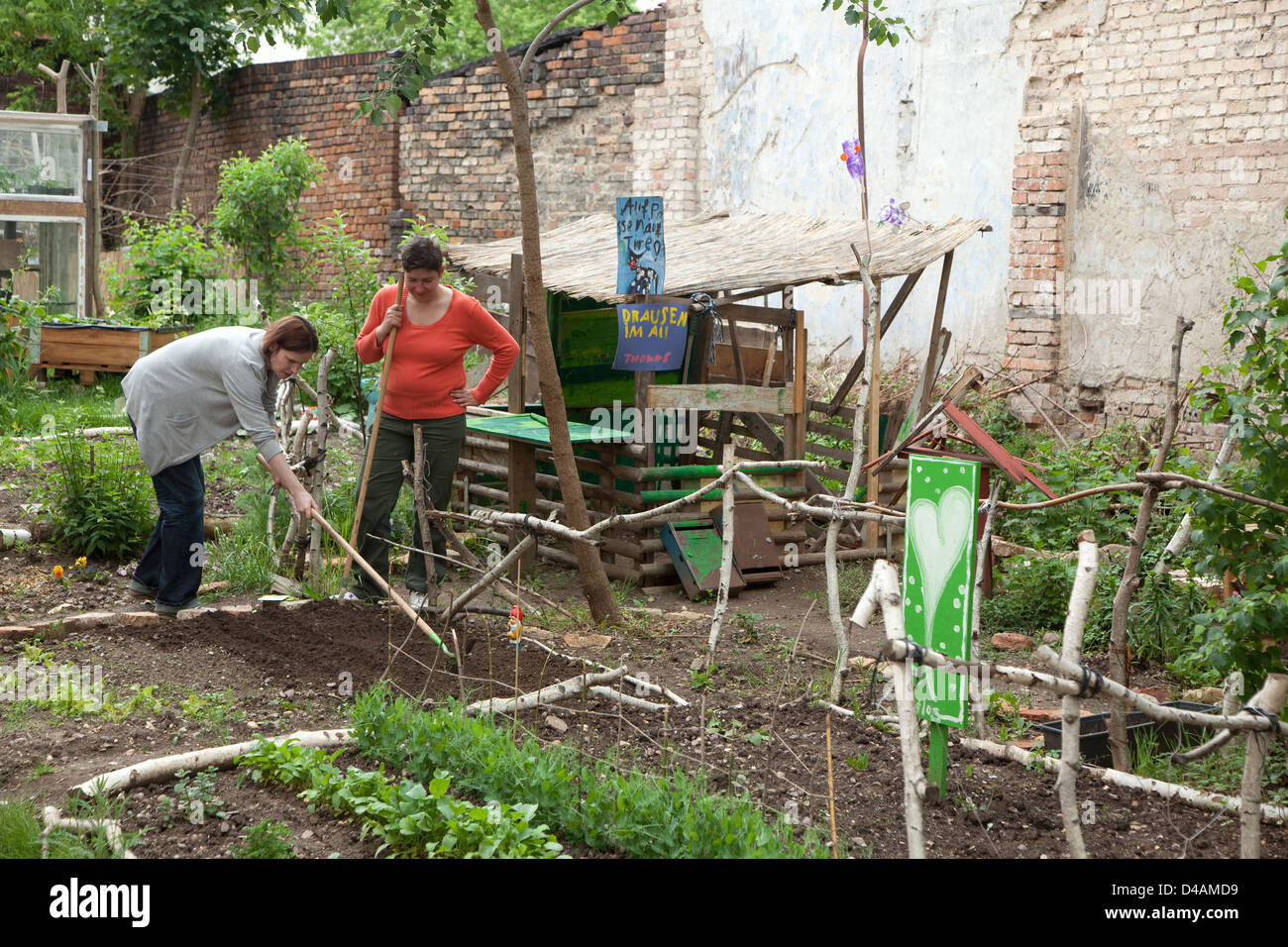 Halle, Germany, the allotment Post cult - Stock Image