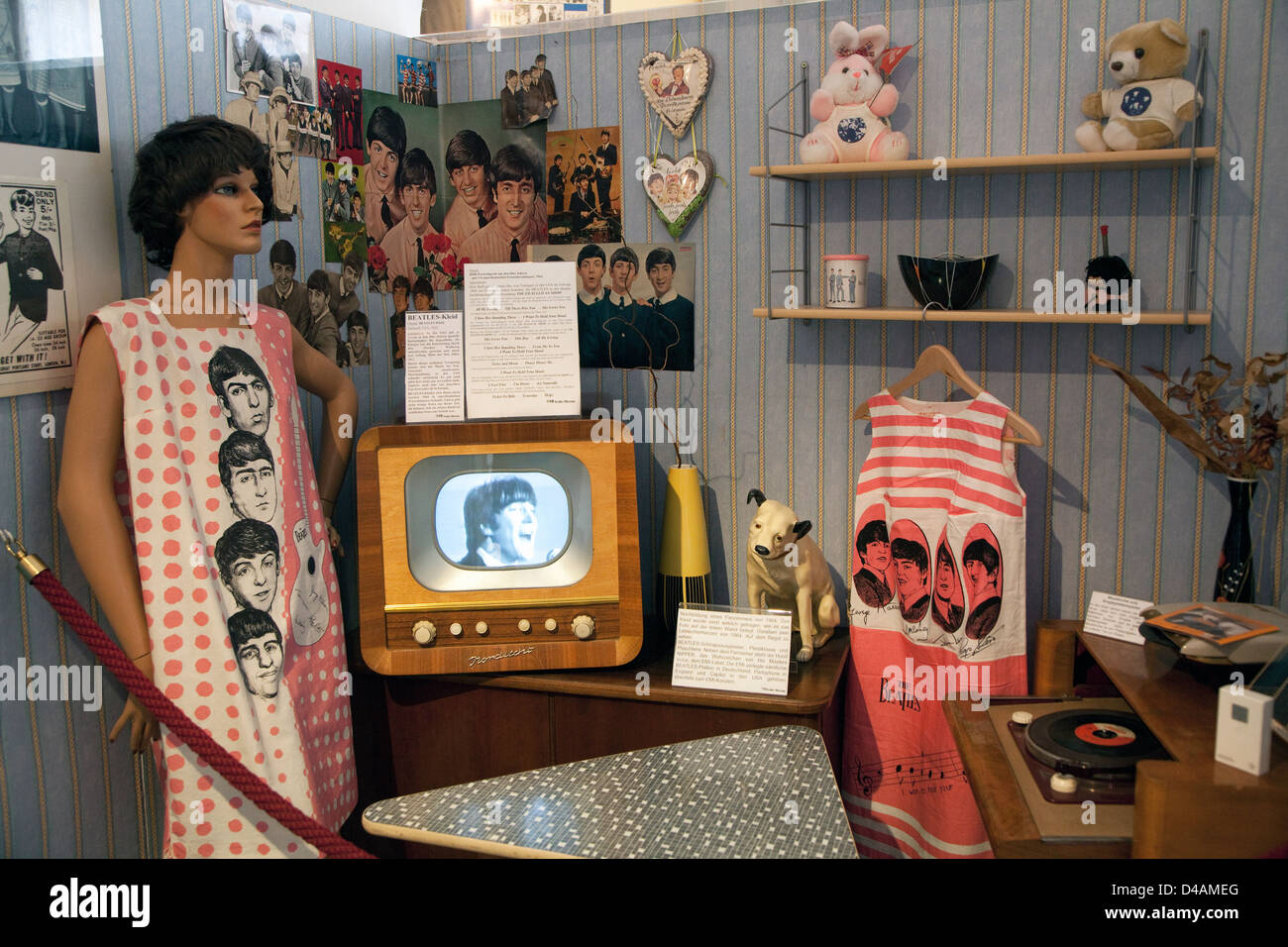Halle, Germany, the Beatles Museum in the Old Market - Stock Image