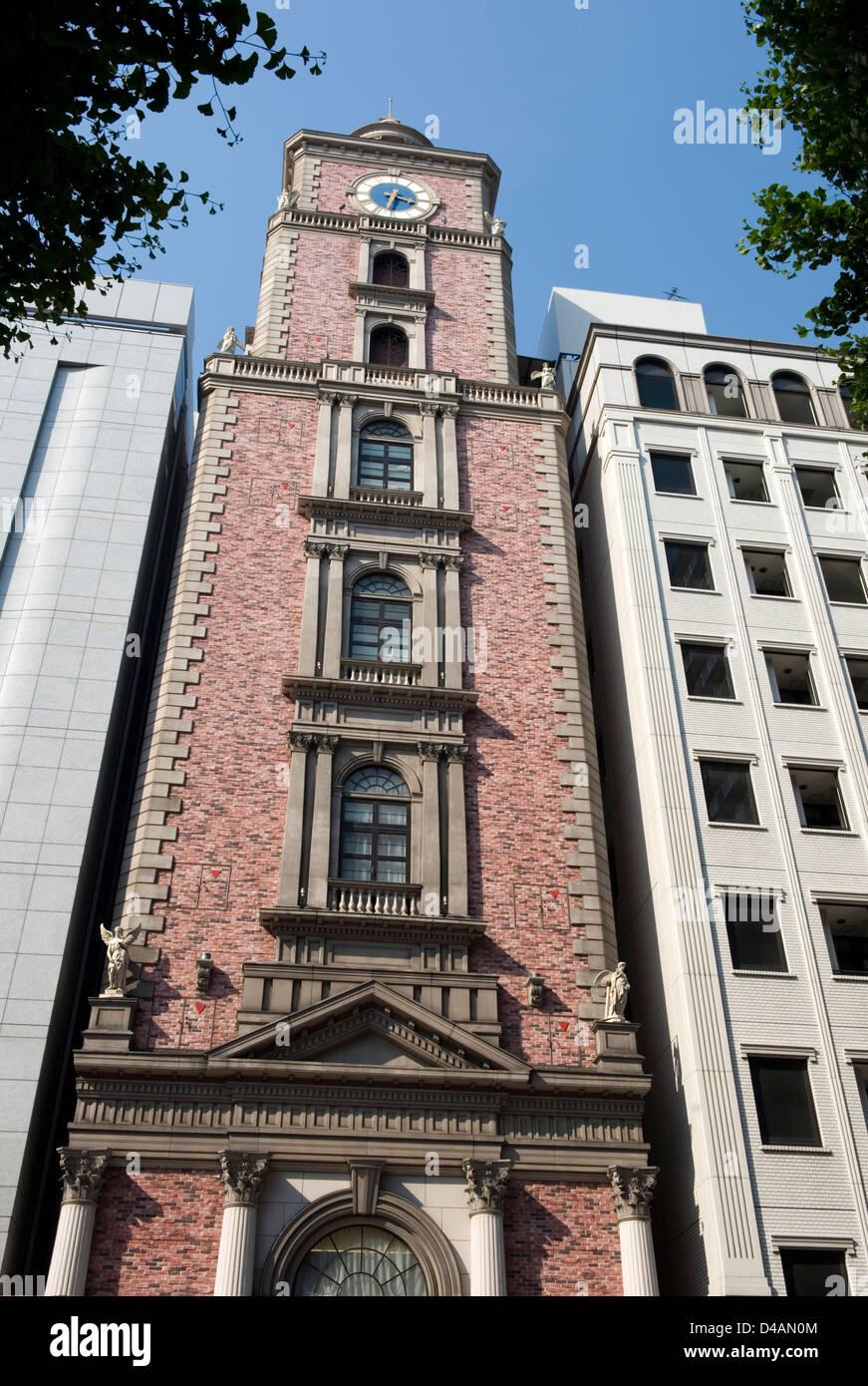 Casa D'Angela wedding bureau occupies this Taisho Period style building on Bashamichi Street in downtown Yokohama, - Stock Image