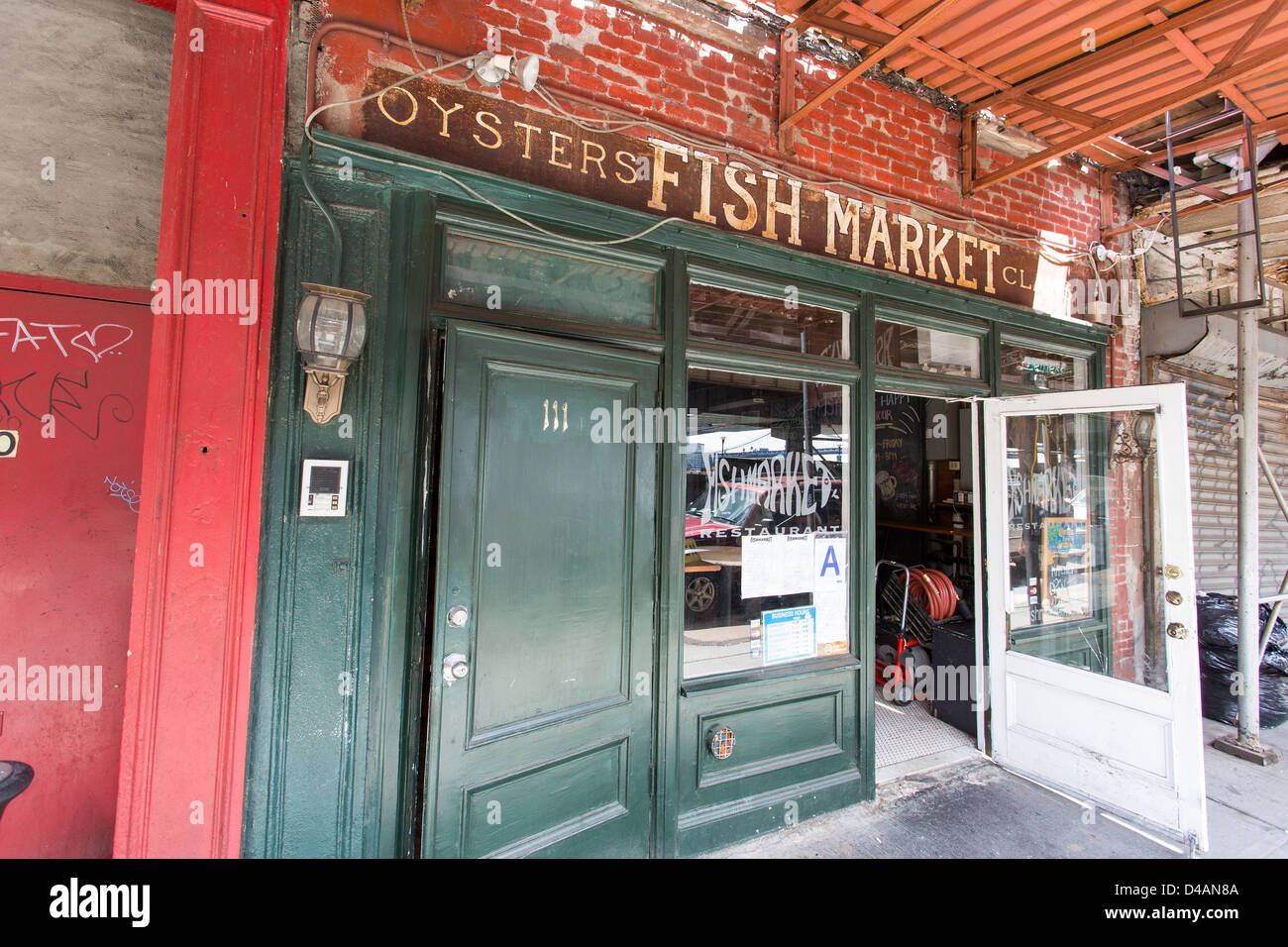 Store front door - Fish Market - South Street Seaport NYC & Store front door - Fish Market - South Street Seaport NYC Stock ...