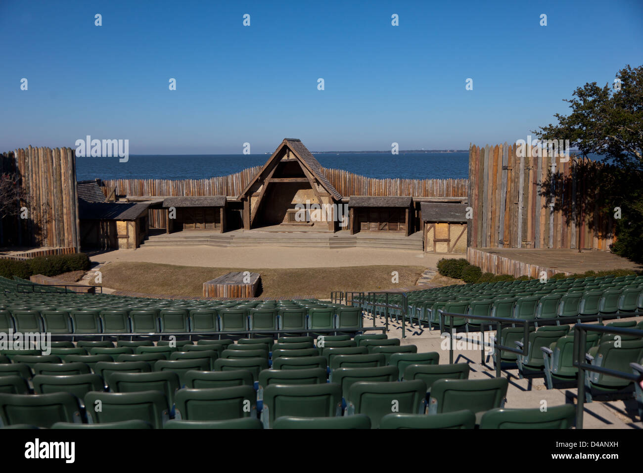 Waterside Theater at Fort Raleigh National Historic Site on Roanoke Island in North Carolina - Stock Image