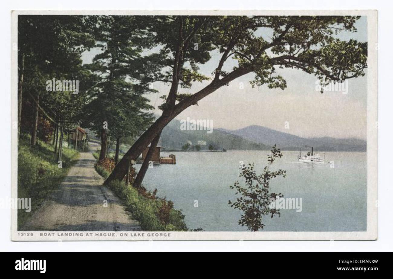 Boat Landing at Hague, Lake George, N.Y. - Stock Image