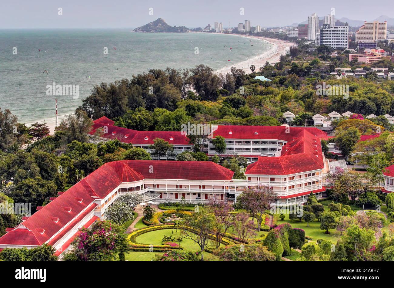 Hua Hin Central Beach View - Stock Image