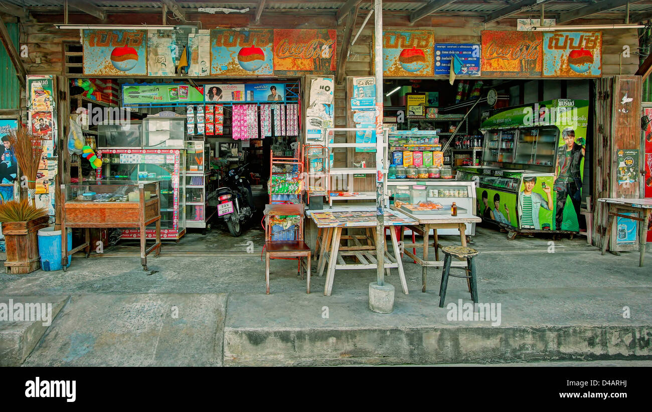 Traditional Shophouse in Hua Hin / Thailand - Stock Image