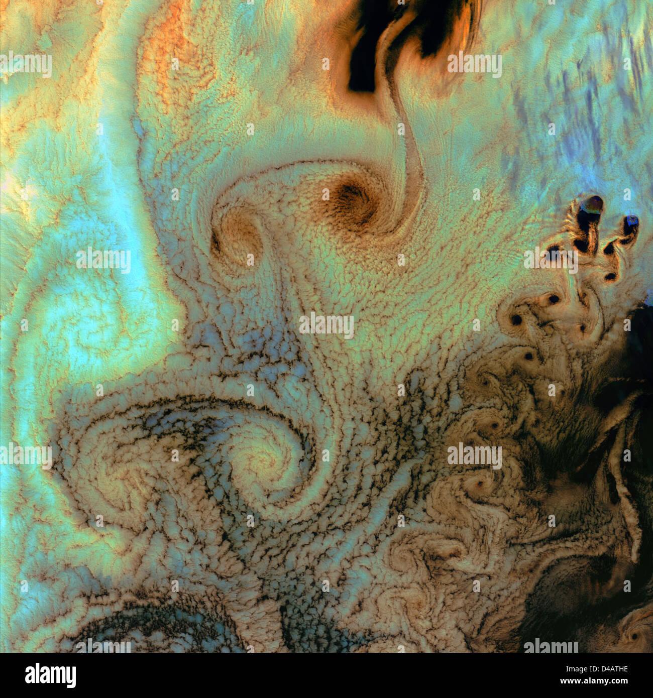 Von Karman Vortices - Stock Image