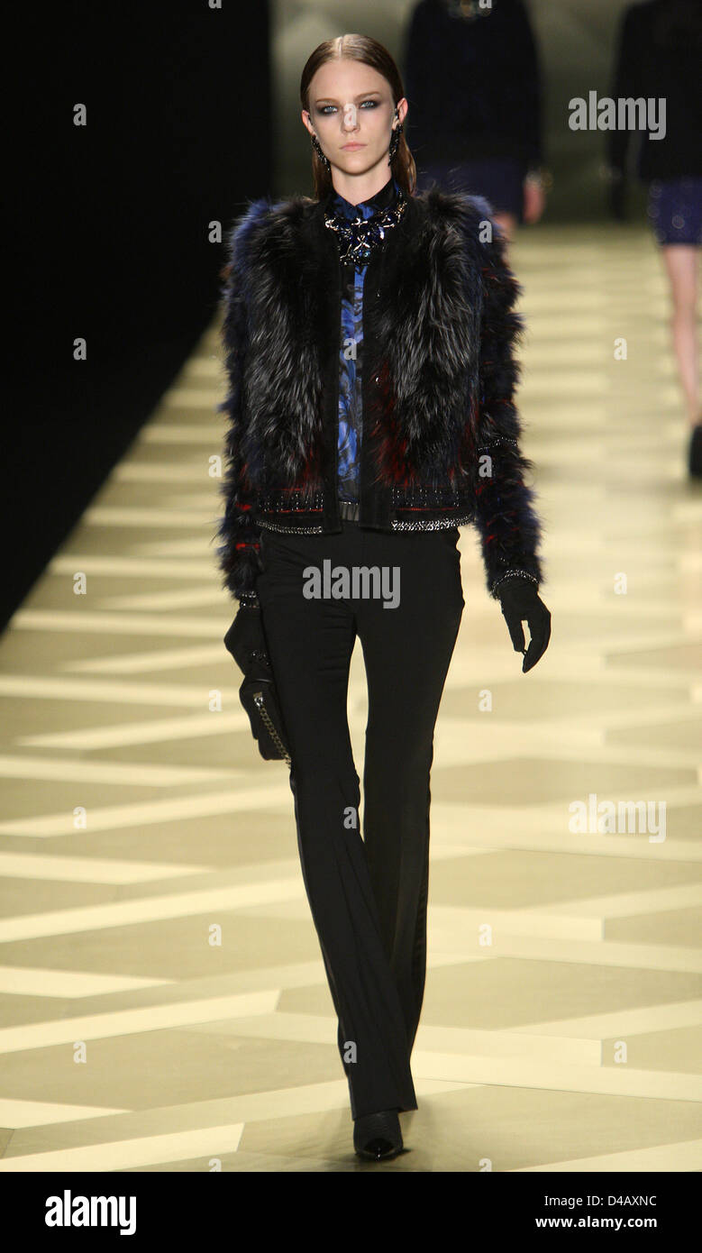 Roberto Cavalli A/W 2013/14 collection shown during the fourth day of Milan Fashion Week, Milan, 23/02/2013. - Stock Image
