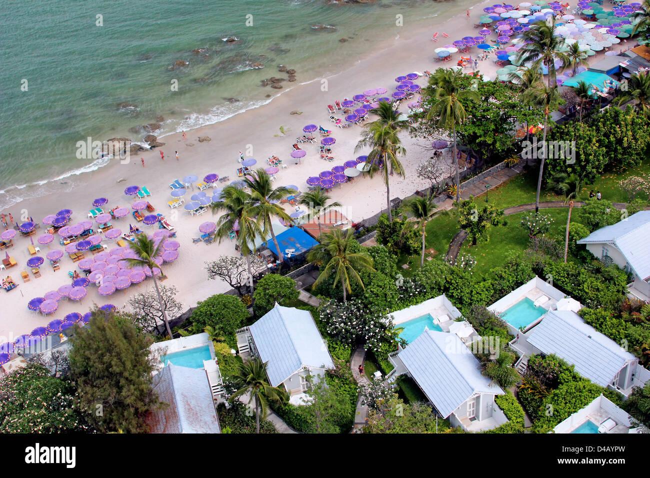 Hua Hin Central Beach at Centara Pool Villas - Stock Image