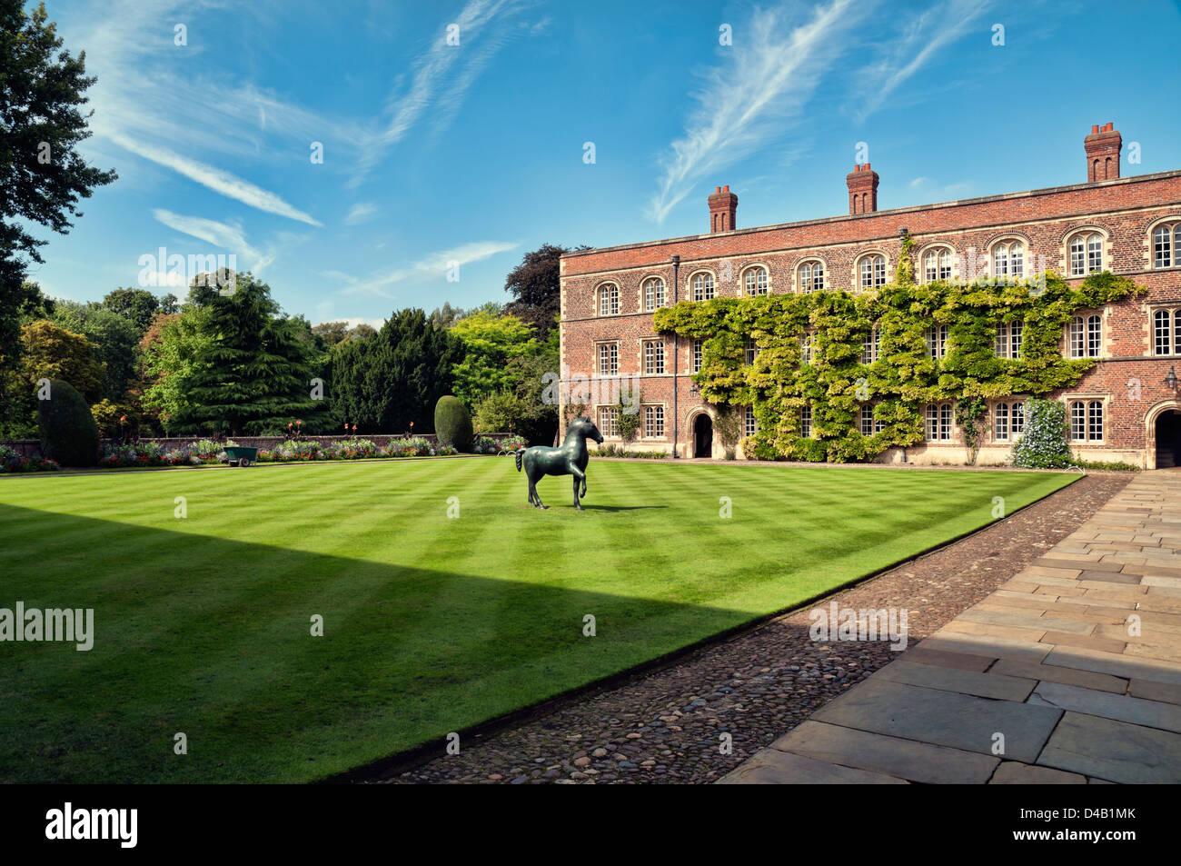 First Court, Jesus College, Cambridge. - Stock Image