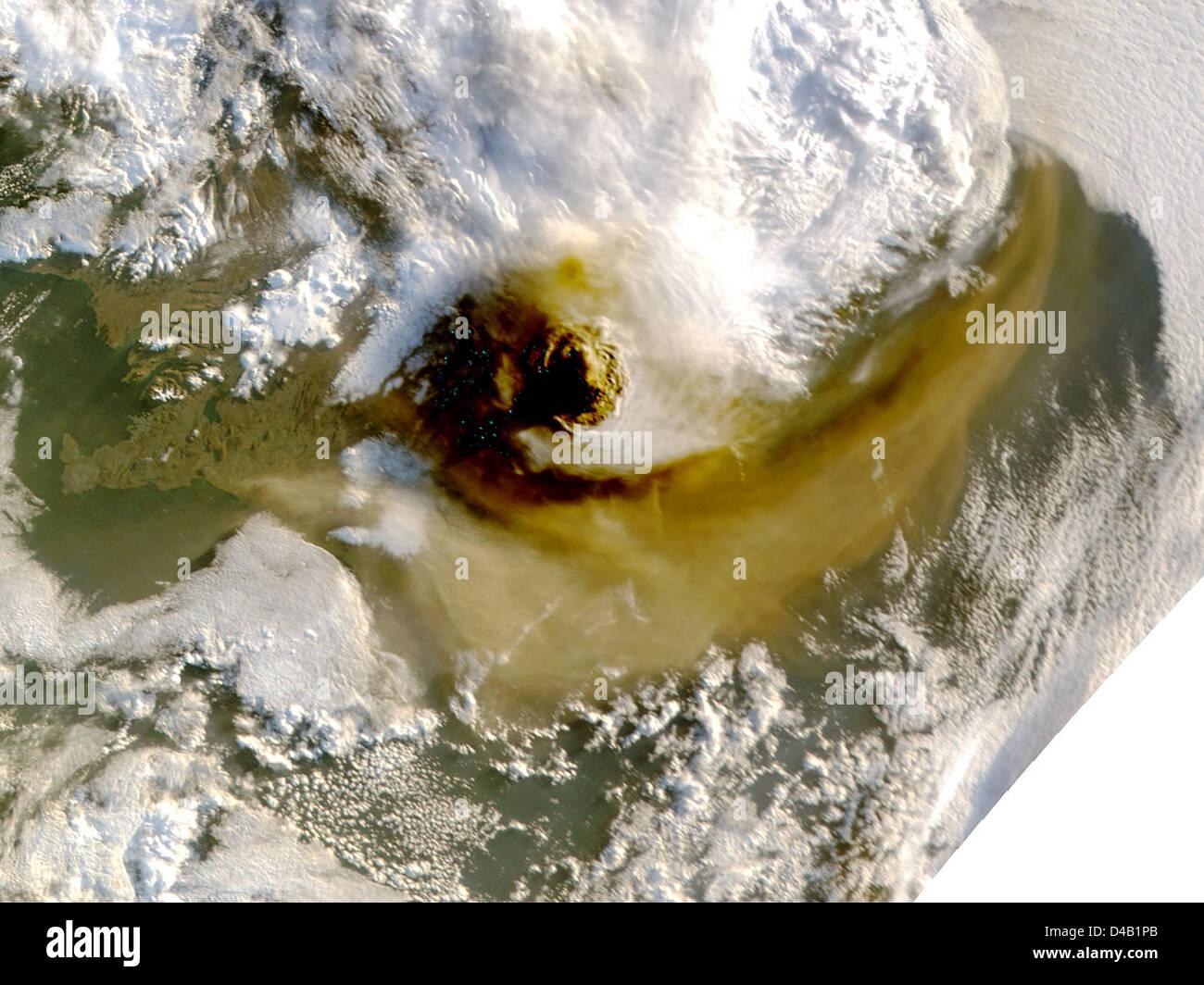 Grímsvötn Volcano Showing Plume - May 22 - Stock Image