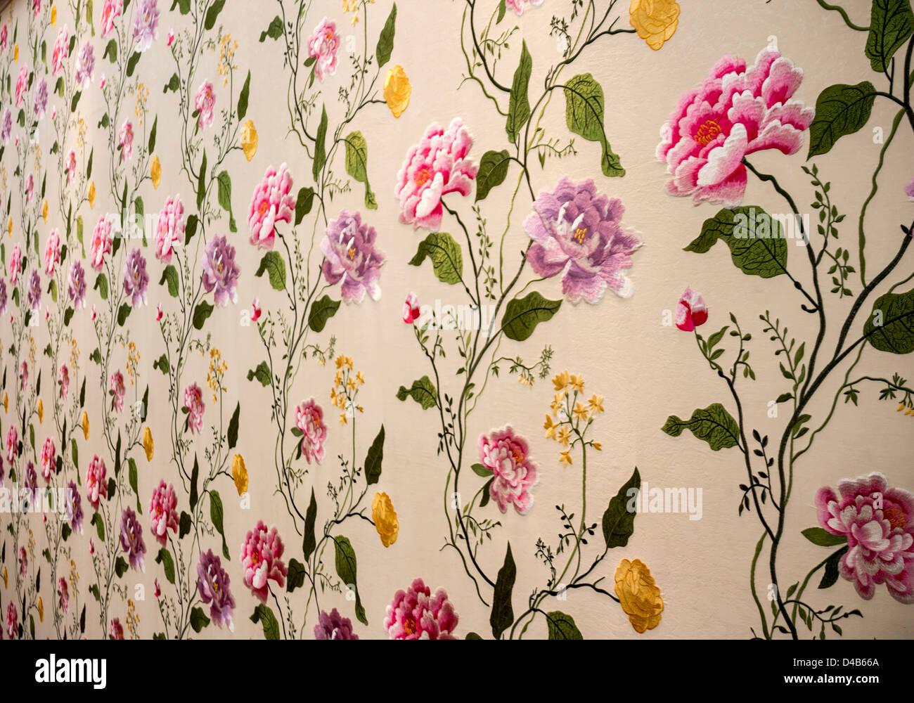 Retro Floral Wallpaper Background Stock Photo 54336082 Alamy