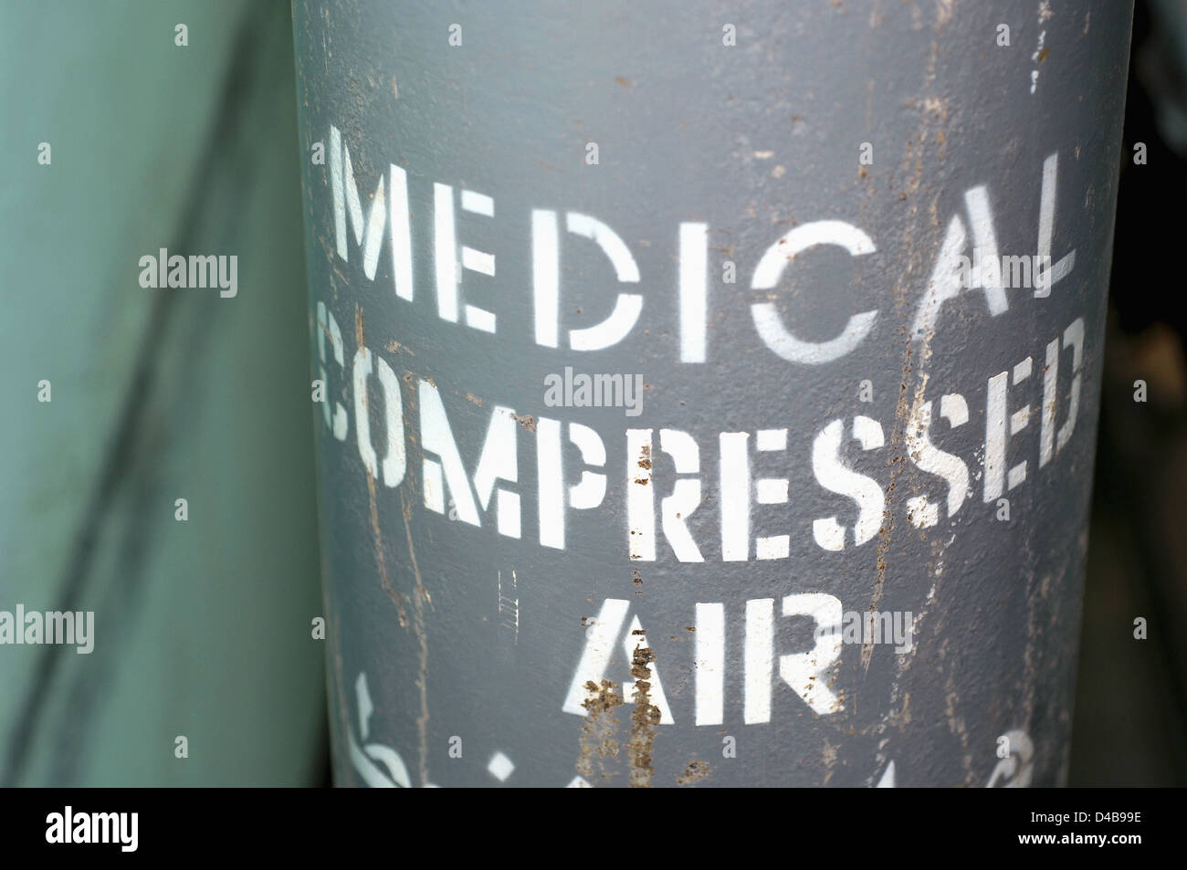 Medical compressed air (Oxygen) - Stock Image
