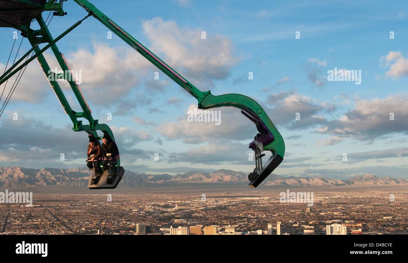 Stratosphere Ride - Las Vegas - Stock Image