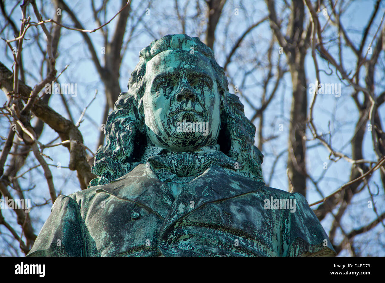 Male statue in Graveyard - Stock Image