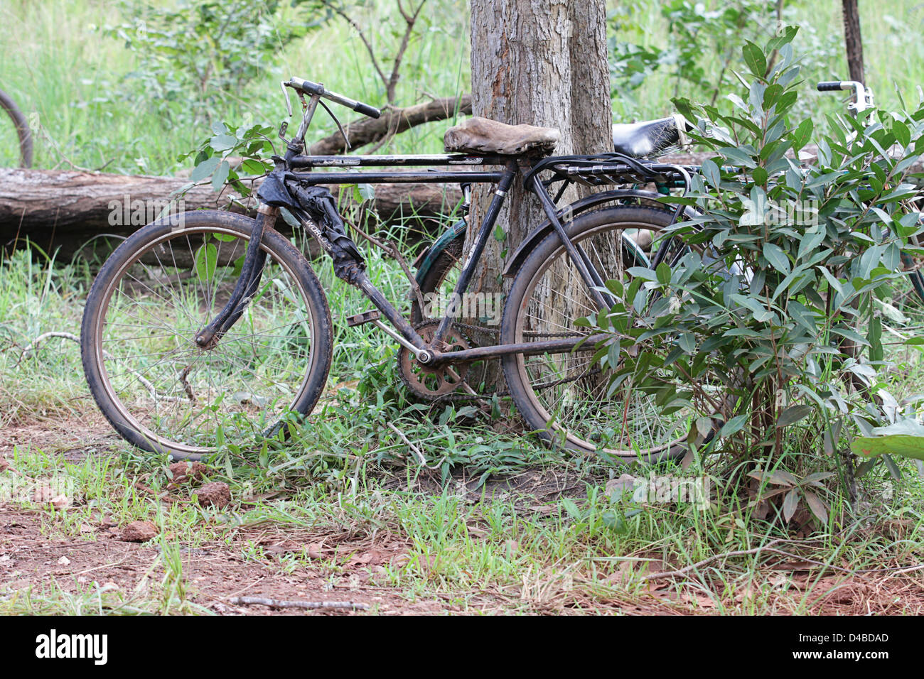 Old decrepit Zambian bicycles - Stock Image