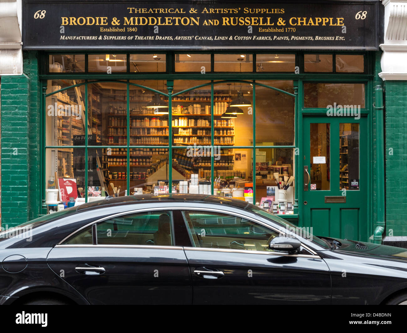 Theatre and Artists Supplies shop in Drury Lane, London, England - Stock Image