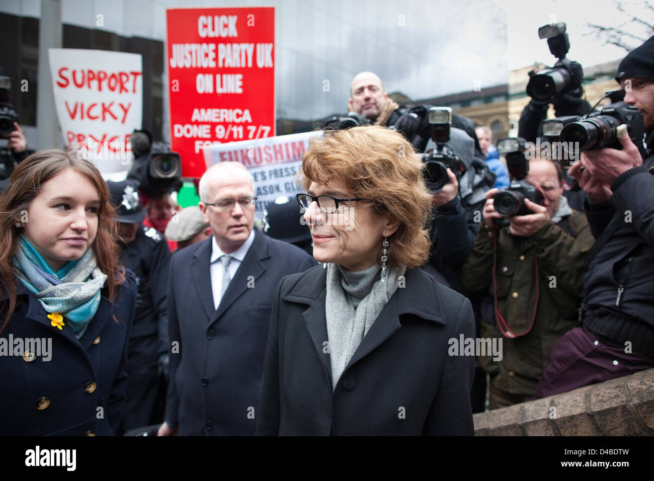 Southwark Crown Court, London, UK. 11th March 2013.  Vicky Pryce arrives at Southwark Court to face a possible jail - Stock Image