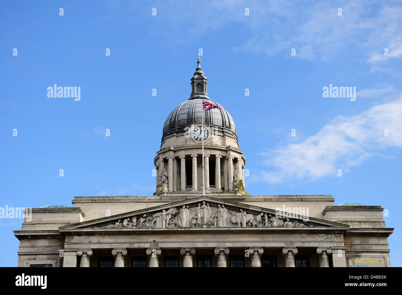Nottingham City Council House,Old Market Square Nottingham,England. - Stock Image
