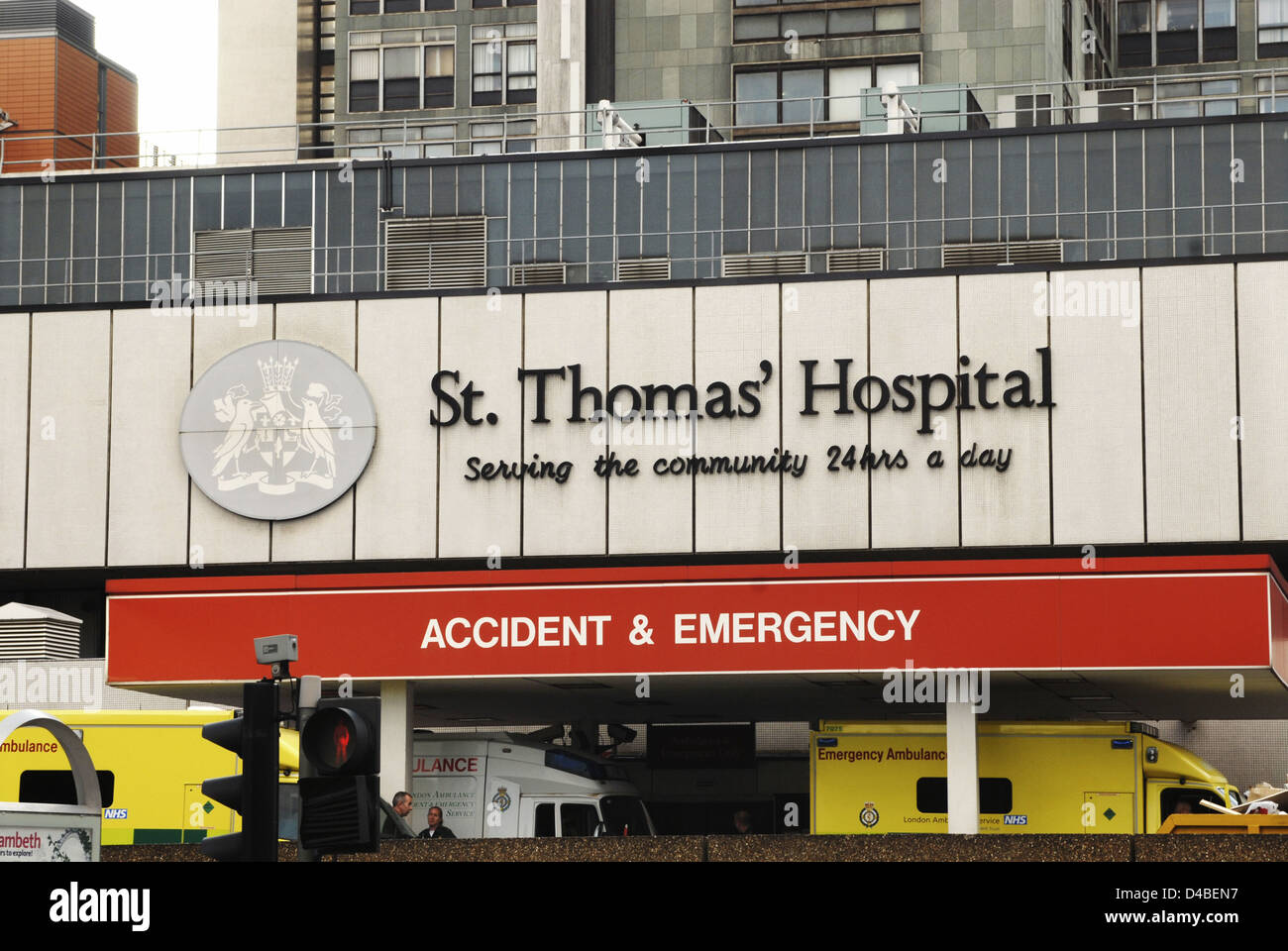 UK Founded almost 900 years ago in 12th century hospital now part Guys & St Thomas NHS Foundation Trust continues - Stock Image