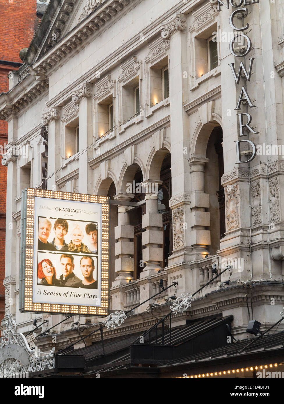 Noel Coward Theatre in St Martin's Lane, London, England - Stock Image